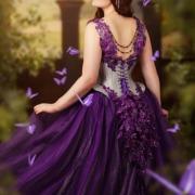 Lyris Design korsett kleid schmetterlinge Fotoshooting