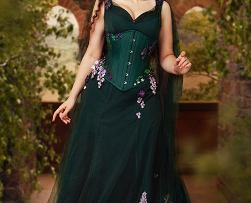 Lyris Design korsett kleid maerchen Fotoshooting