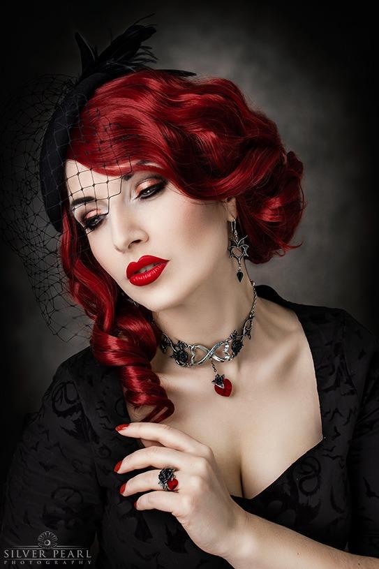 Gothic beauty Portrait Fotoshooting Hamburg