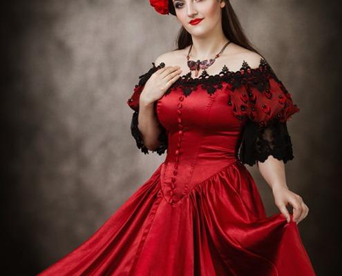 Fantasy Kleid Kopfschmuck MyWitchery Punkrave Fotoshooting