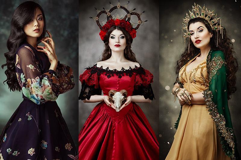Fotoshooting Kostüme Fantasy Kleider