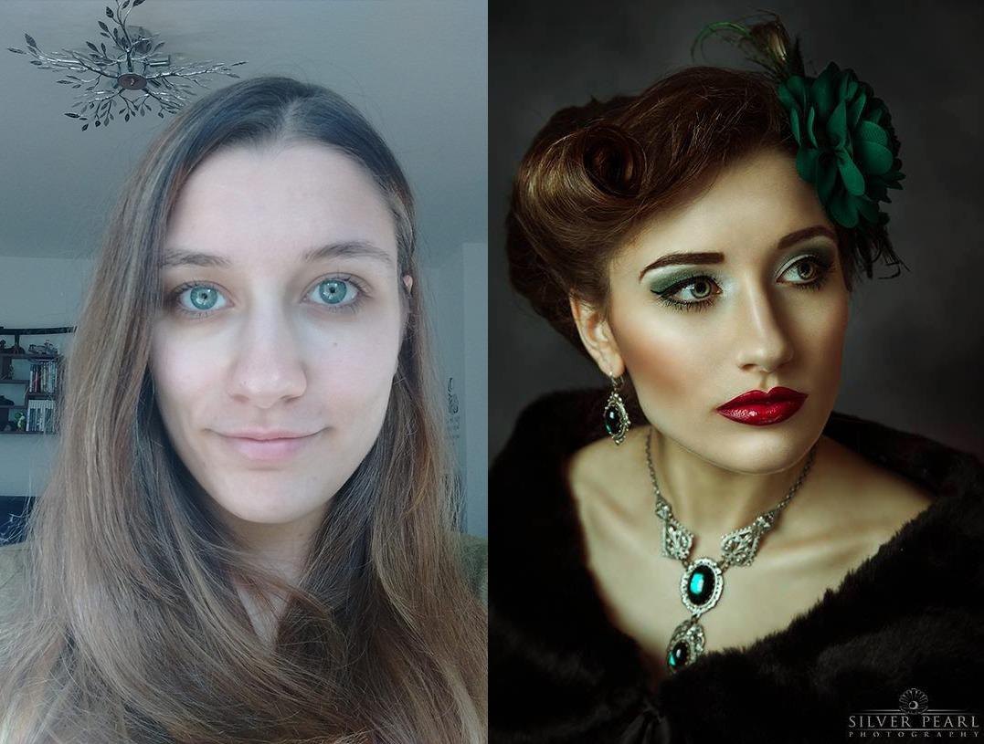 Makeover Makeup Umstyling Hamburg Vintage Diva