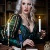 Viktorianische Hexe Hexer Bibliothek Fotoshooting