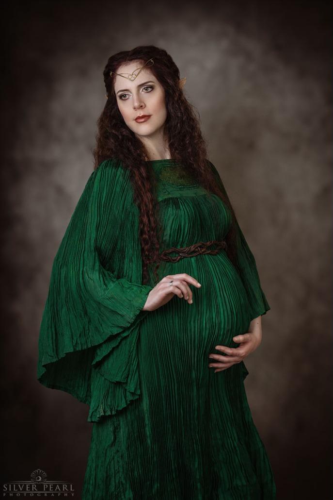 Elfen Königin Maternity Fotoshooting Hamburg