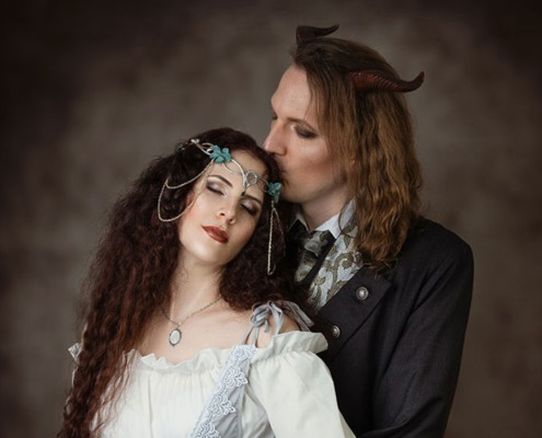 Romantisches Fantasy Paarshooting Elfe Faun